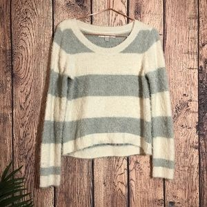 Lauren Conrad Fuzzy Sweater S Gray